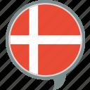 denmark, dnk, flag, language, nation, world icon
