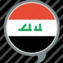 flag, iraq, irq, language, nation, world icon