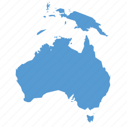 australia, australian, continent, country, map, navigation icon