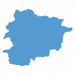 andorra, country, location, map, navigation icon
