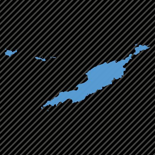 anguilla, location, map, navigation icon