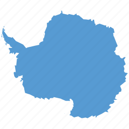 antarctica, continent, location, map, navigation icon