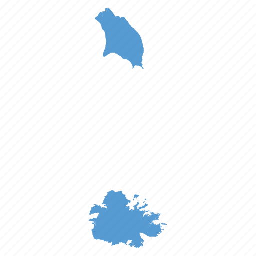 and, antigua, barbuda, caribbean, country, map, navigation icon