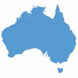 australia, australian, country, location, map, navigation icon