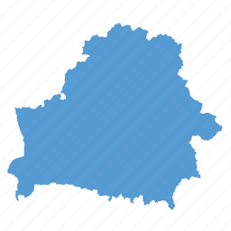 belarus, country, location, map, navigation icon