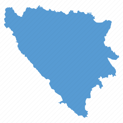 and, bosnia, country, herzegovina, location, map, navigation icon
