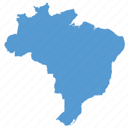 brazil, brazilian, country, location, map, navigation, south american icon