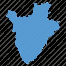 burundi, country, location, map, navigation icon