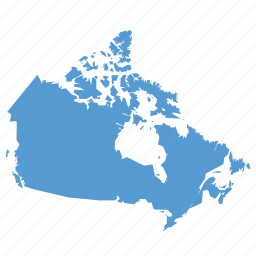 canada, canadian, country, location, map, navigation icon