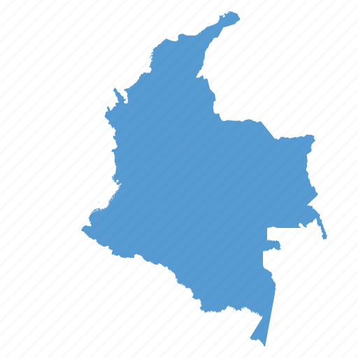 colombia, colombian, country, location, map, navigation icon