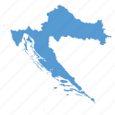 country, croatia, croatian, location, map, navigation icon