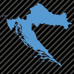 country, croatia, croatian, location, map, navigation icon