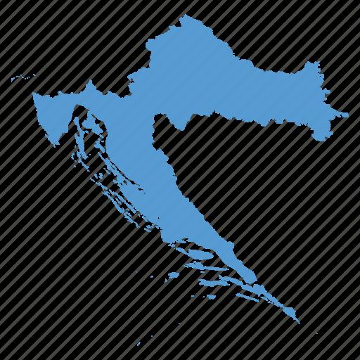 Country croatia croatian location map navigation icon Icon