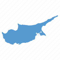 country, cyprus, location, map, navigation icon