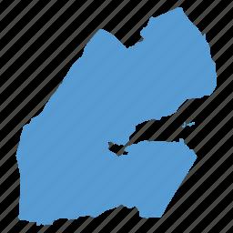 country, djibouti, location, map, navigation icon