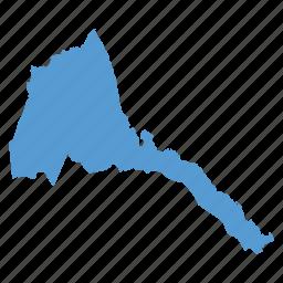 country, eritrea, eritrean, location, map, navigation icon