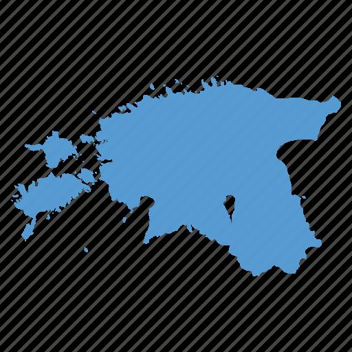 country, estonia, estonian, location, map, navigation icon