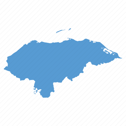 country, honduras, location, map, navigation icon