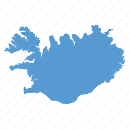 country, iceland, location, map, navigation icon