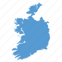 country, european, ireland, irish, location, map, navigation icon