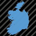 country, european, ireland, irish, location, map, navigation icon