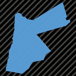 asian, country, jordan, location, map, navigation icon