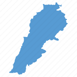 country, lebanese, lebanon, location, map, navigation icon