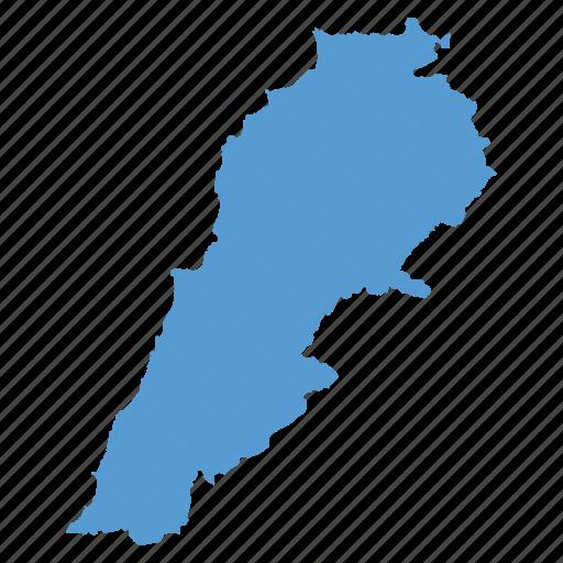 Country Lebanese Lebanon Location Map Navigation Icon