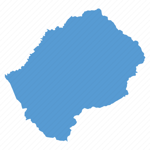 country, lesotho, location, map, navigation icon