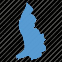 country, liechtenstein, location, map, navigation icon