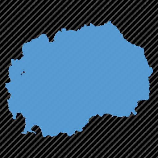 country, location, macedonia, macedonian, map, navigation icon