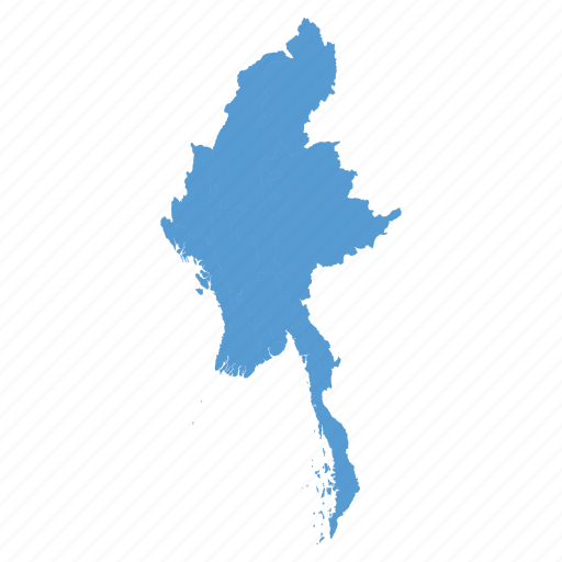 asian, burma, burmese, country, map, myanmar, navigation icon