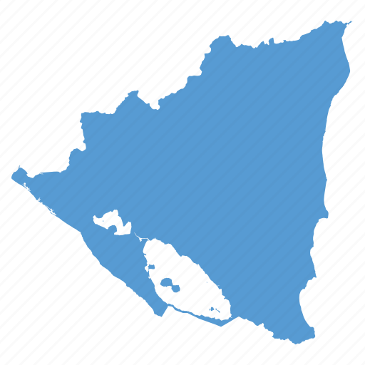 Where Is Nicaragua Located On A World Map.Country Location Map Navigation Nicaragua Icon