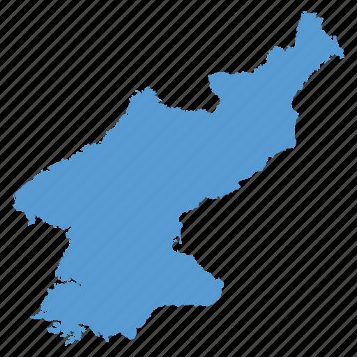 asian, country, korea, korean, map, navigation, north icon