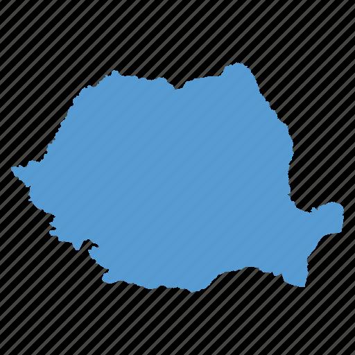 country, european, location, map, navigation, romania, romanian icon