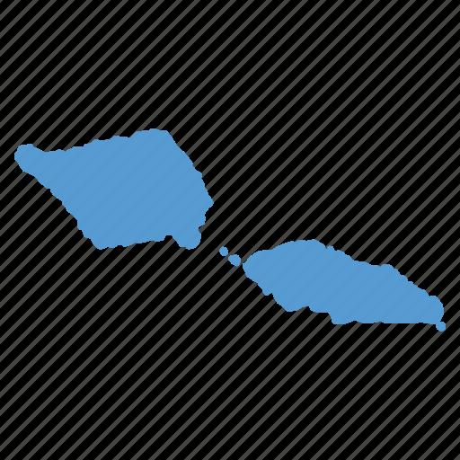 country, location, map, navigation, samoa icon