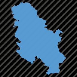 location, map, navigation, serbia, serbian icon