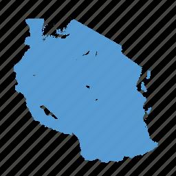 african, country, location, map, navigation, tanzania, tanzanian icon