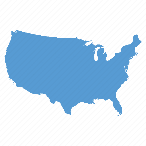 america, american, map, states, united, us, usa icon