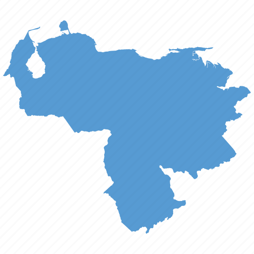 country, location, map, navigation, venezuela icon