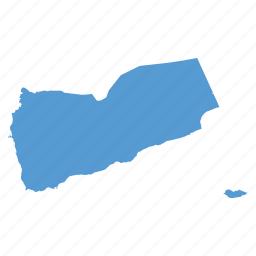 asian, country, gulf, location, map, navigation, yemen icon