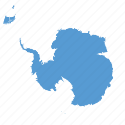 antarctic, map, ocean icon