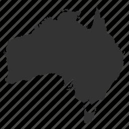 australiamaps, country, map, world icon