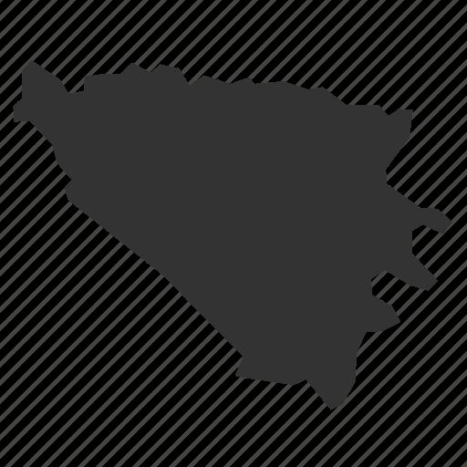 and, bosnia, country, herzegovinamaps, map, world icon