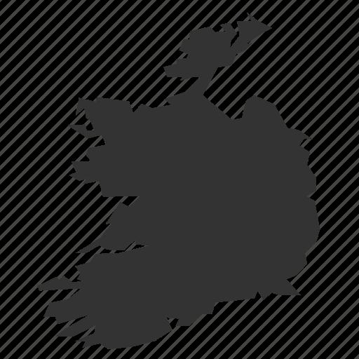 country, irelandmaps, map, world icon