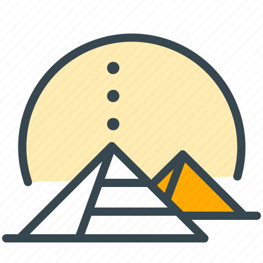 egypt, historial, history, monuments, pyramids, world icon