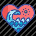 love, ocean, wave, scenery, sea