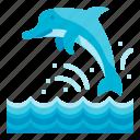 dolphin, creature, holidays, ocean, animal
