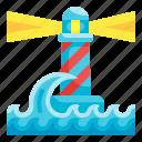 lighthouse, navigation, tower, ocean, security