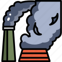 air, factory, industry, poison, pollution, smoke icon